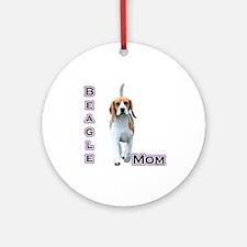 Beagle Mom4 Ornament (Round)