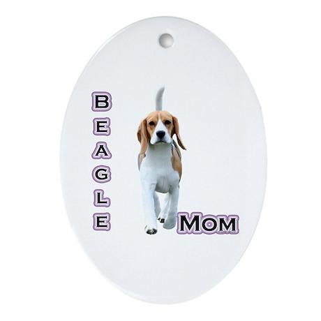 Beagle Mom4 Oval Ornament