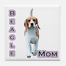 Beagle Mom4 Tile Coaster