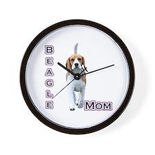 Beagle Mom4 Wall Clock