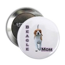 "Beagle Mom4 2.25"" Button (100 pack)"