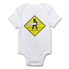 Surfer Crossing Infant Bodysuit