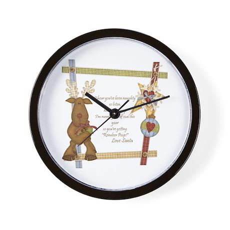 Reindeer Poop Wall Clock