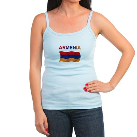 Armenian Flag Jr. Spaghetti Tank