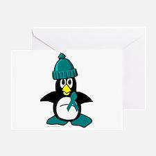 Winter Penguin 1 (OC) Greeting Card
