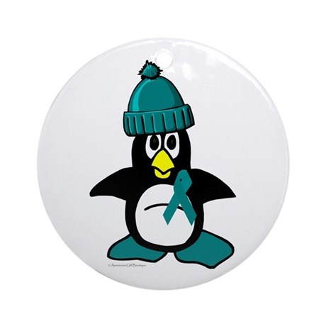 Winter Penguin 1 (OC) Ornament (Round)