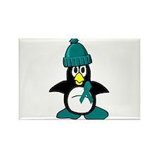 Winter Penguin 1 (OC) Rectangle Magnet