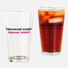 Funny Feminist power Drinking Glass