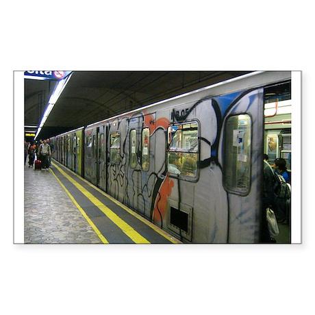 metro Rectangle Sticker