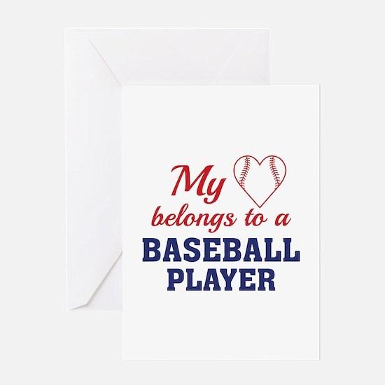 Heart Belongs Baseball Greeting Card