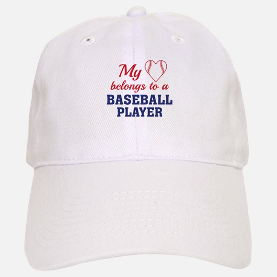 Heart Belongs Baseball Baseball Baseball Cap