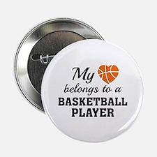 """Heart Belongs Basketball 2.25"""" Button"""