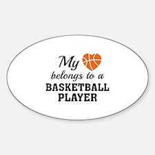 Heart Belongs Basketball Decal
