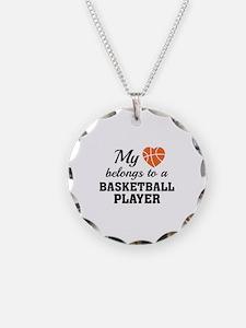 Heart Belongs Basketball Necklace