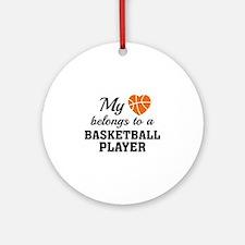 Heart Belongs Basketball Ornament (Round)