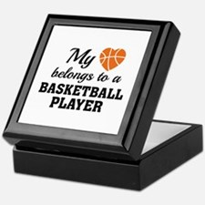 Heart Belongs Basketball Keepsake Box