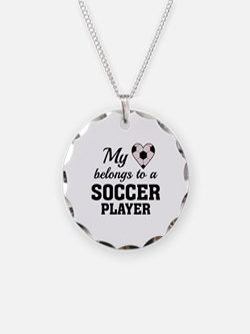 Heart Belongs Soccer Necklace