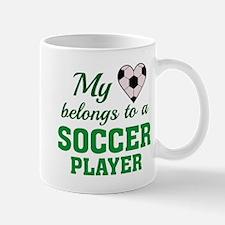 Heart Belongs Soccer Mug