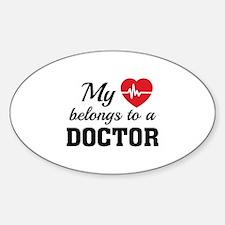 Heart Belongs Doctor Decal