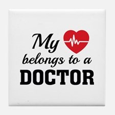 Heart Belongs Doctor Tile Coaster