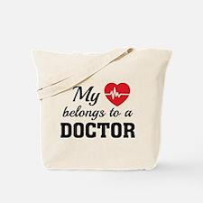 Heart Belongs Doctor Tote Bag