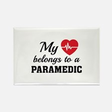 Heart Belongs Paramedic Rectangle Magnet