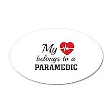 Heart Belongs Paramedic 22x14 Oval Wall Peel