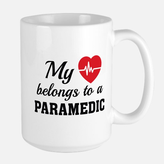 Heart Belongs Paramedic Large Mug