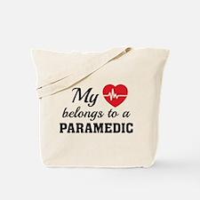 Heart Belongs Paramedic Tote Bag