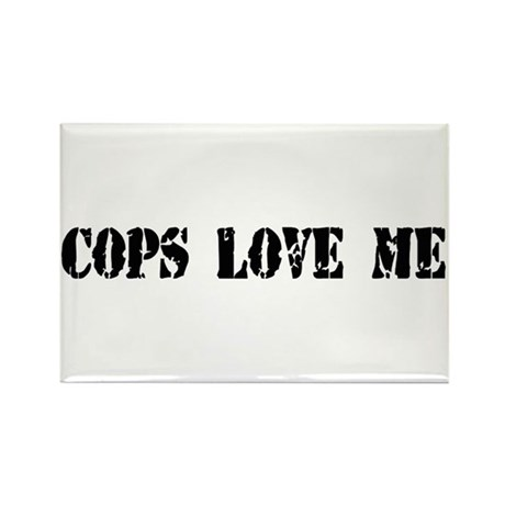 Cops Love Me Rectangle Magnet (10 pack)