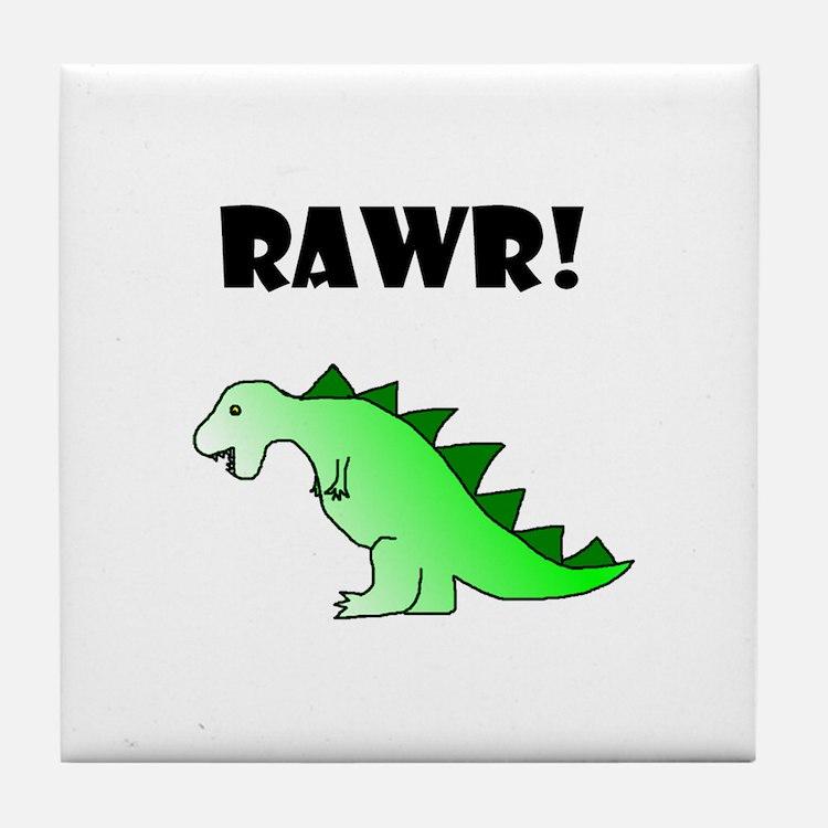RAWR! Tile Coaster