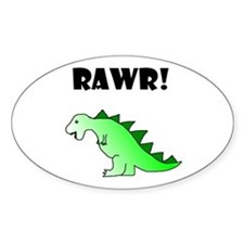 RAWR! Oval Sticker
