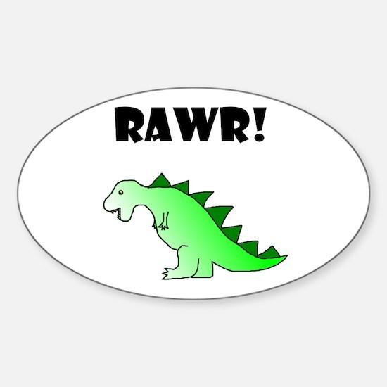 RAWR! Oval Decal