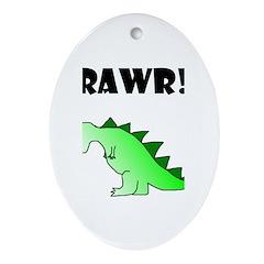 RAWR! Oval Ornament