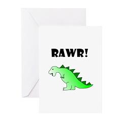 RAWR! Greeting Cards (Pk of 20)