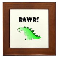 RAWR! Framed Tile