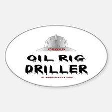 Oil Rig Driller Oval Decal