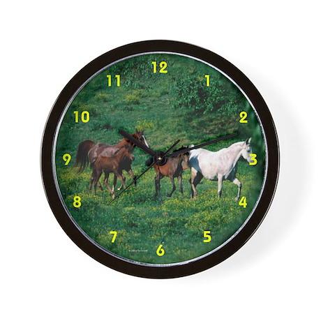 Horses running Wall Clock