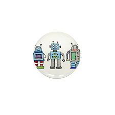 Robot Family Mini Button (10 pack)
