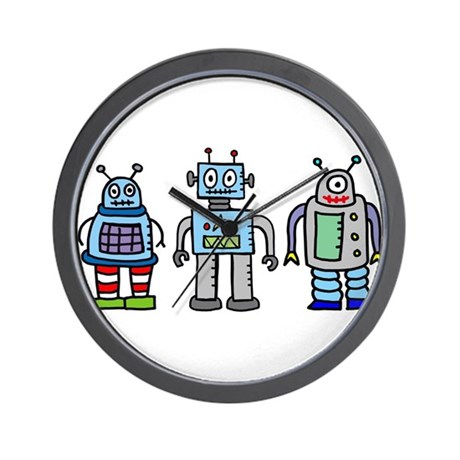 Robot Family Wall Clock