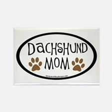 Dachshund Mom Oval Rectangle Magnet