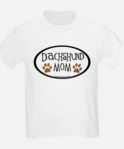 Dachshund Mom Oval T-Shirt
