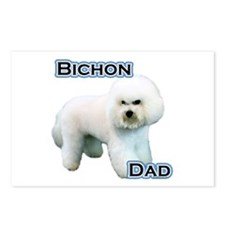 Bichon Dad4 Postcards (Package of 8)
