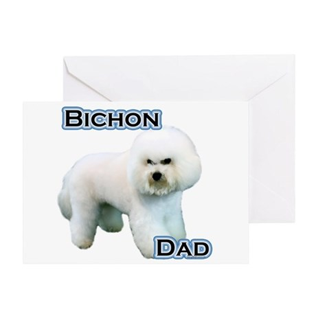 Bichon Dad4 Greeting Card