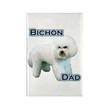 Bichon Dad4 Rectangle Magnet (100 pack)