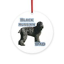 Black Russian Dad4 Ornament (Round)