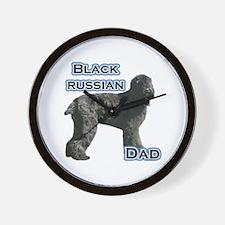 Black Russian Dad4 Wall Clock