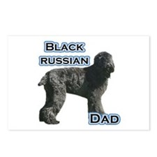 Black Russian Dad4 Postcards (Package of 8)