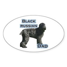 Black Russian Dad4 Oval Decal