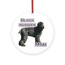 Black Russian Mom4 Ornament (Round)